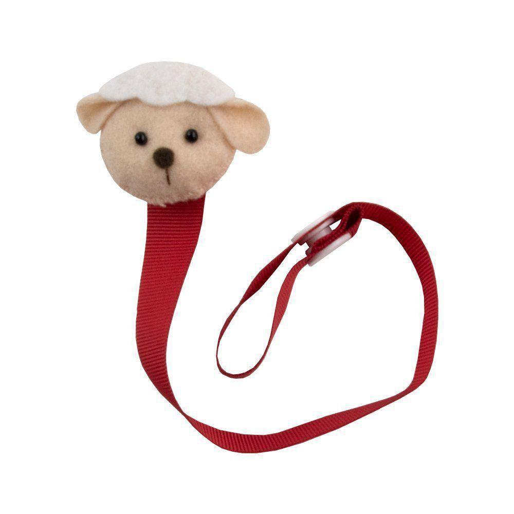 Prendedor de chupeta  ovelhinha - Vermelho