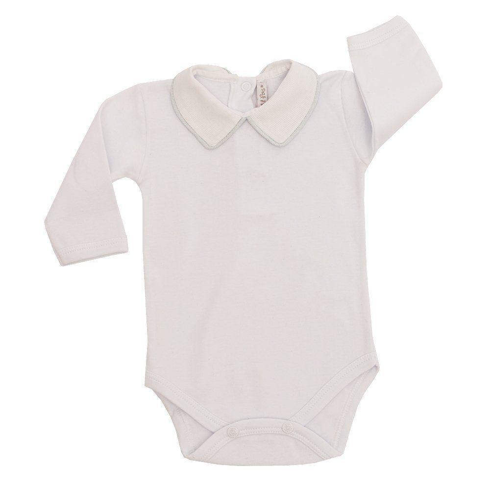 Saída de maternidade com body, macacão e manta - Azul pó