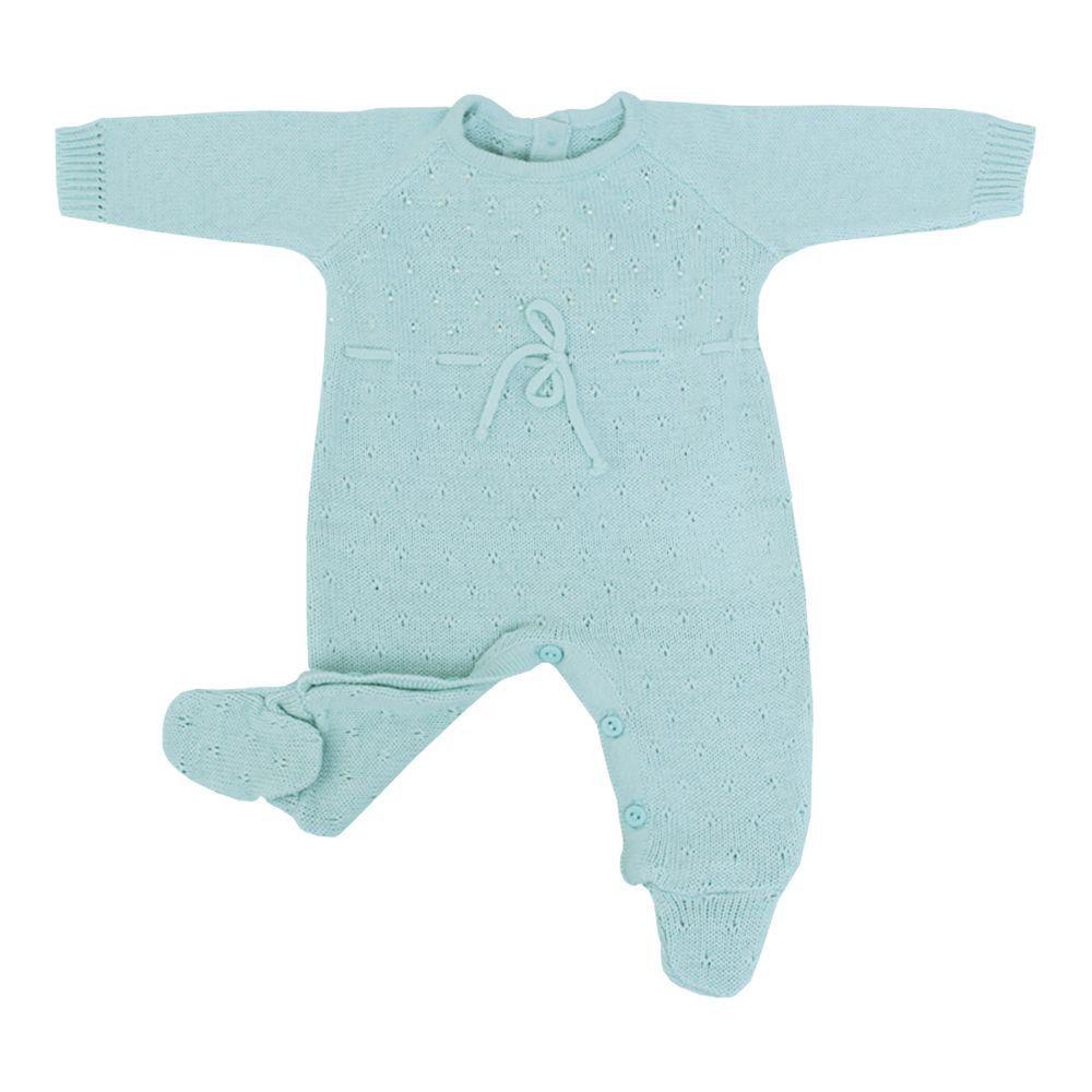 Saída de maternidade feminina 3 peças - Verde claro
