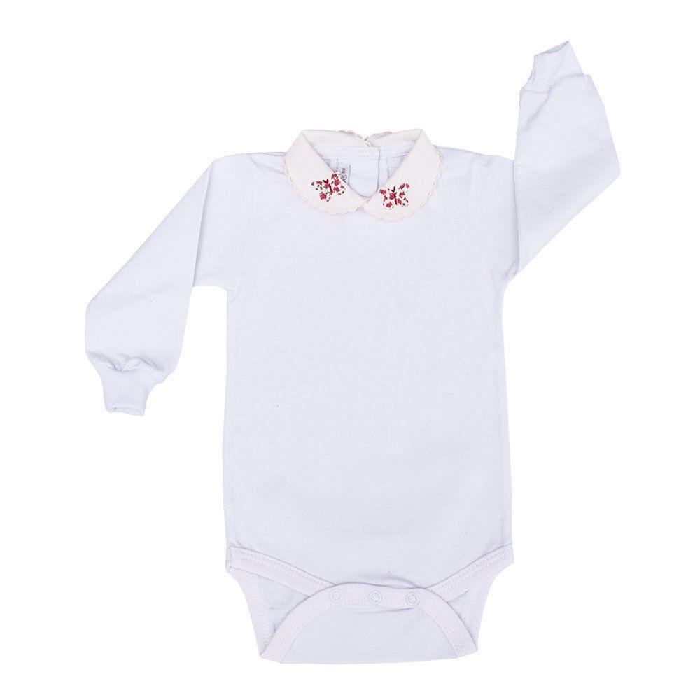Saída de maternidade feminina 3 peças - Branco e vermelho