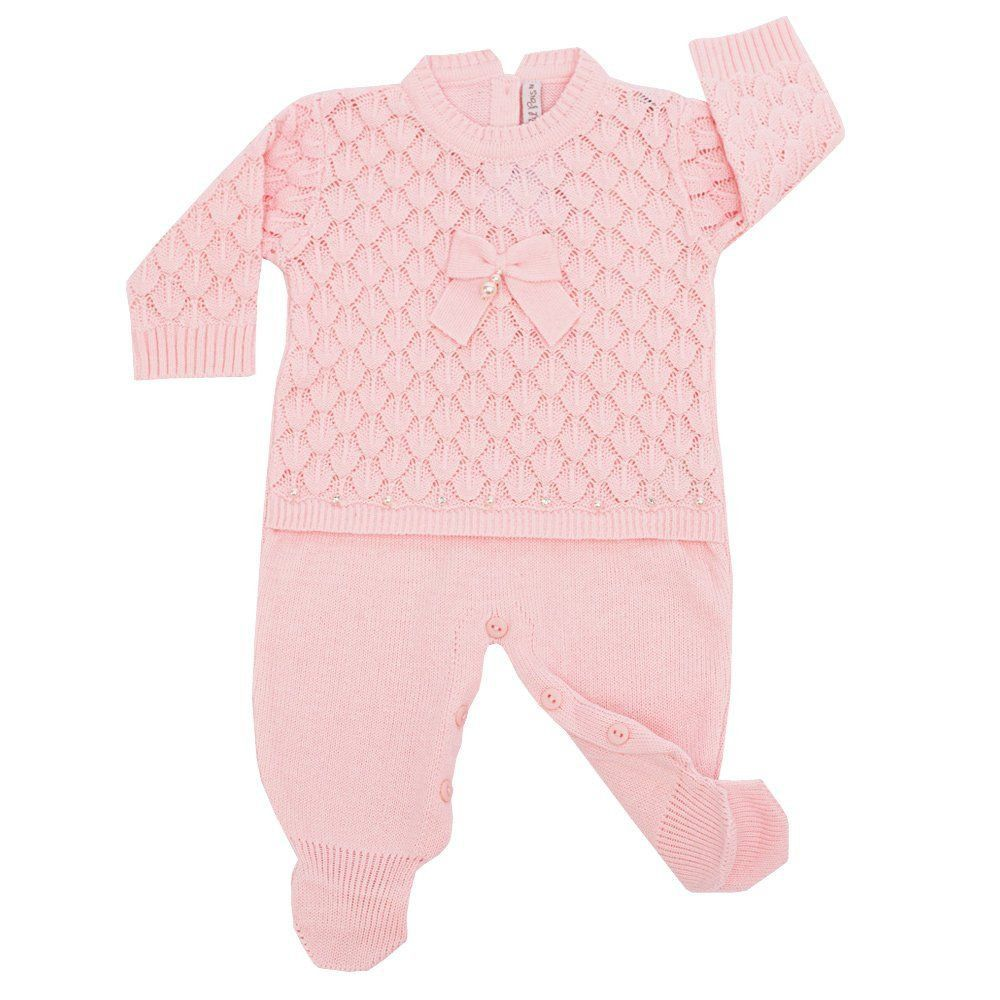Saída de maternidade feminina 2 peças - Rosa