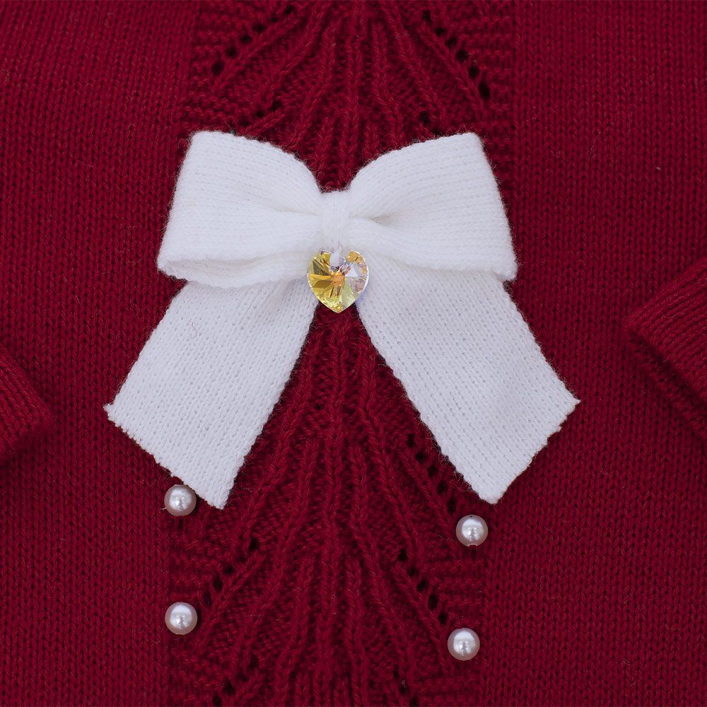 Saída de maternidade feminina com cristais swarovski 2 peças - Vermelho