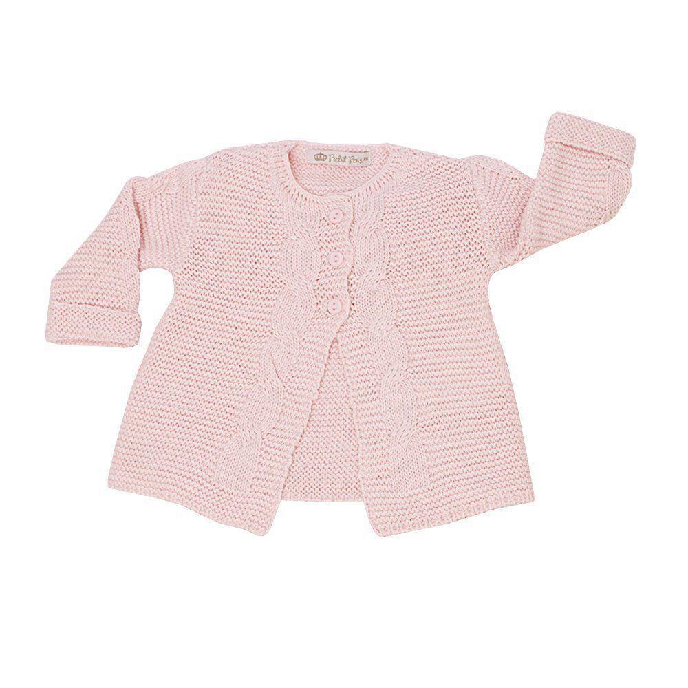 Saída de maternidade feminina 3 peças - Rosa
