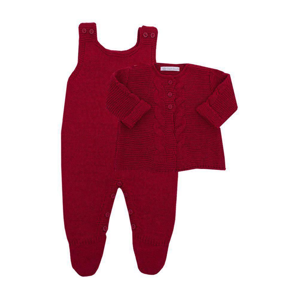 Saída de maternidade feminina 3 peças - Vermelho
