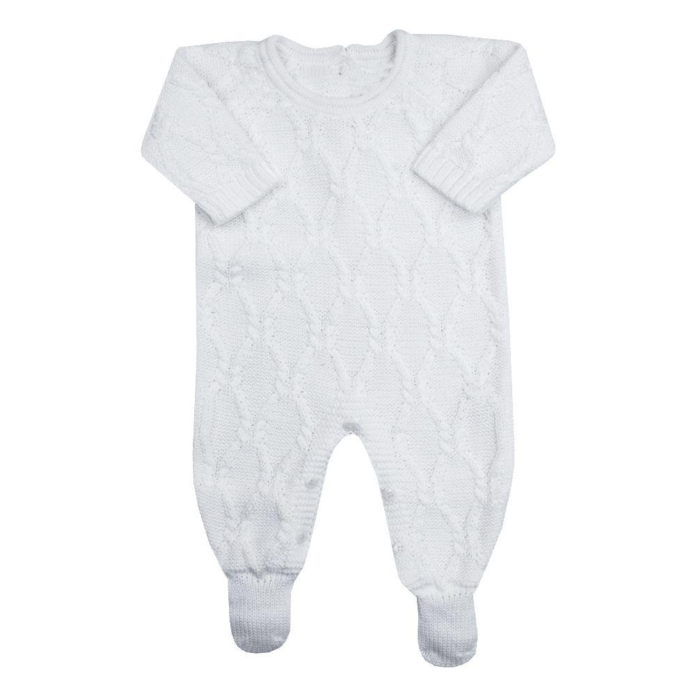 Macacão bebê aran - Branco