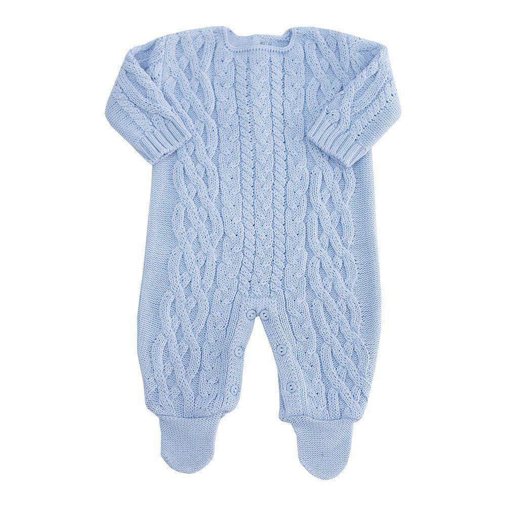 Saída de maternidade masculina 2 peças - Azul bebê