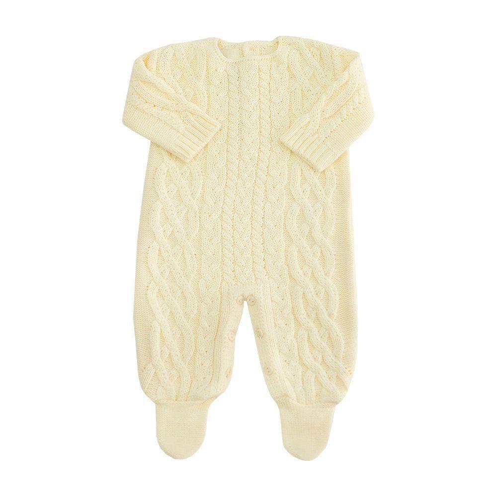Saída de maternidade masculina 2 peças - Amarelo bebê