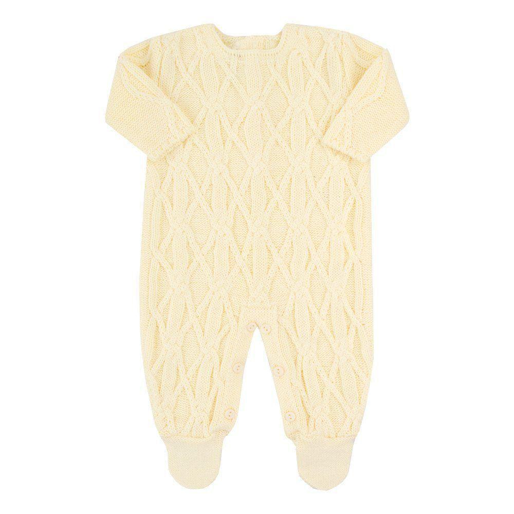 Saída de maternidade unissex 2 peças - Amarelo bebê