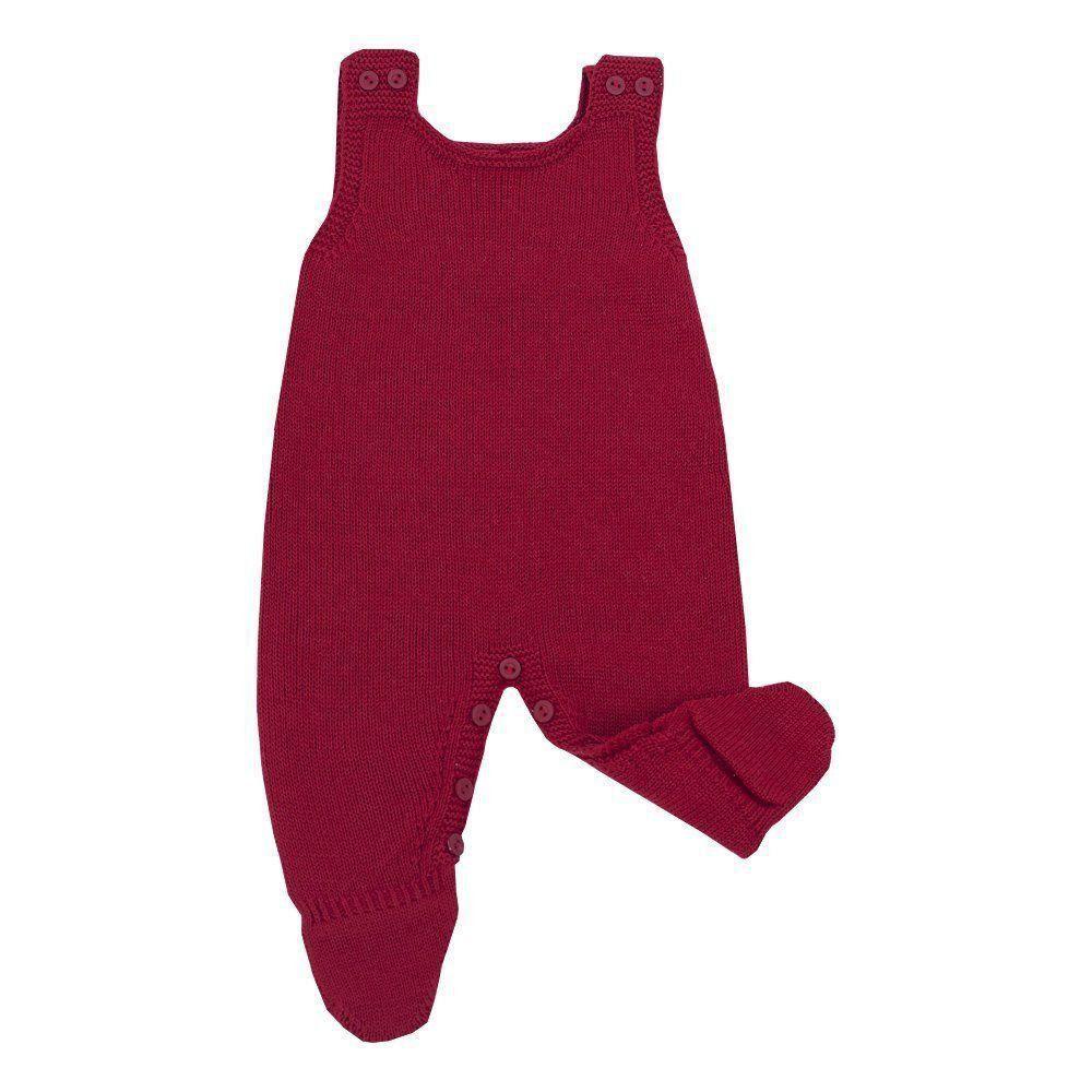 Saída de maternidade masculina 4 peças - Vermelho