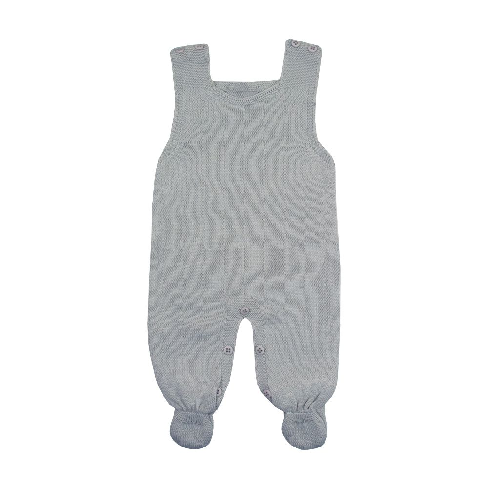 Conjunto macacão e casaco tenista - Cinza e branco