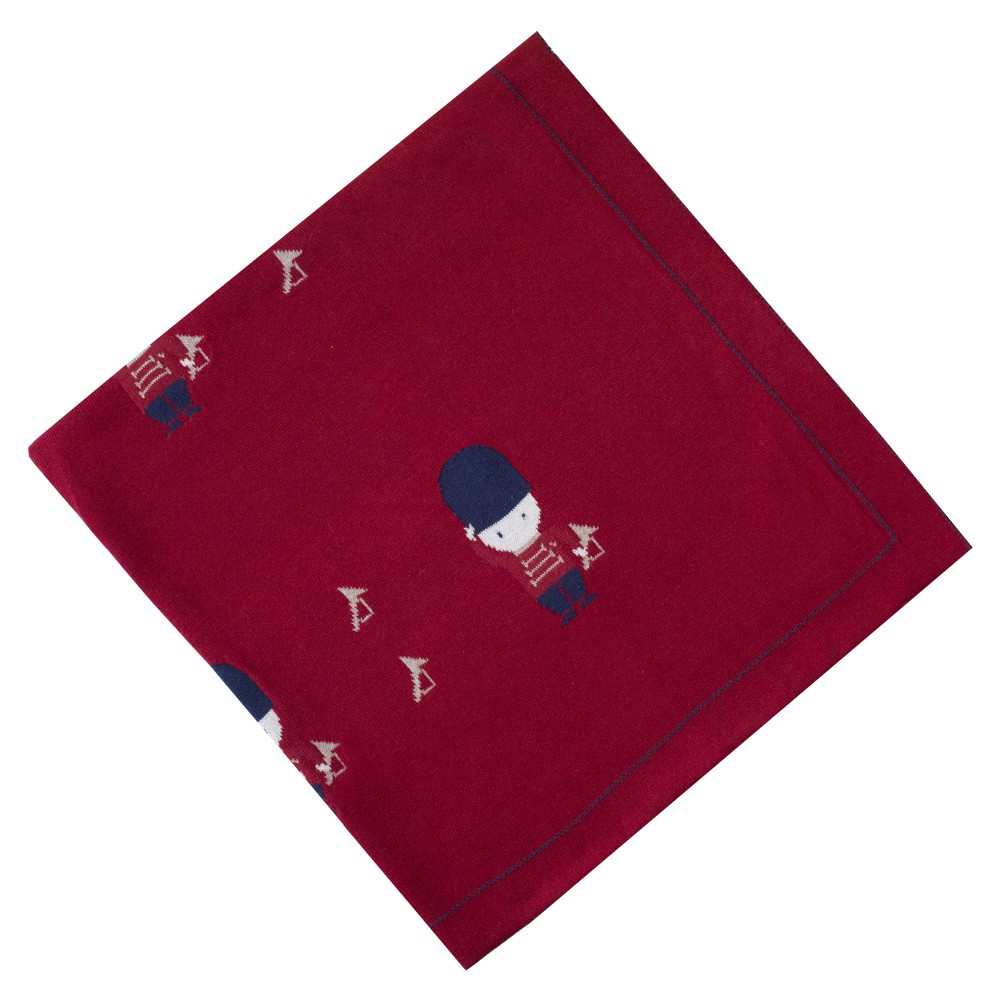Saída de maternidade soldadinho macacão e manta - Vermelho