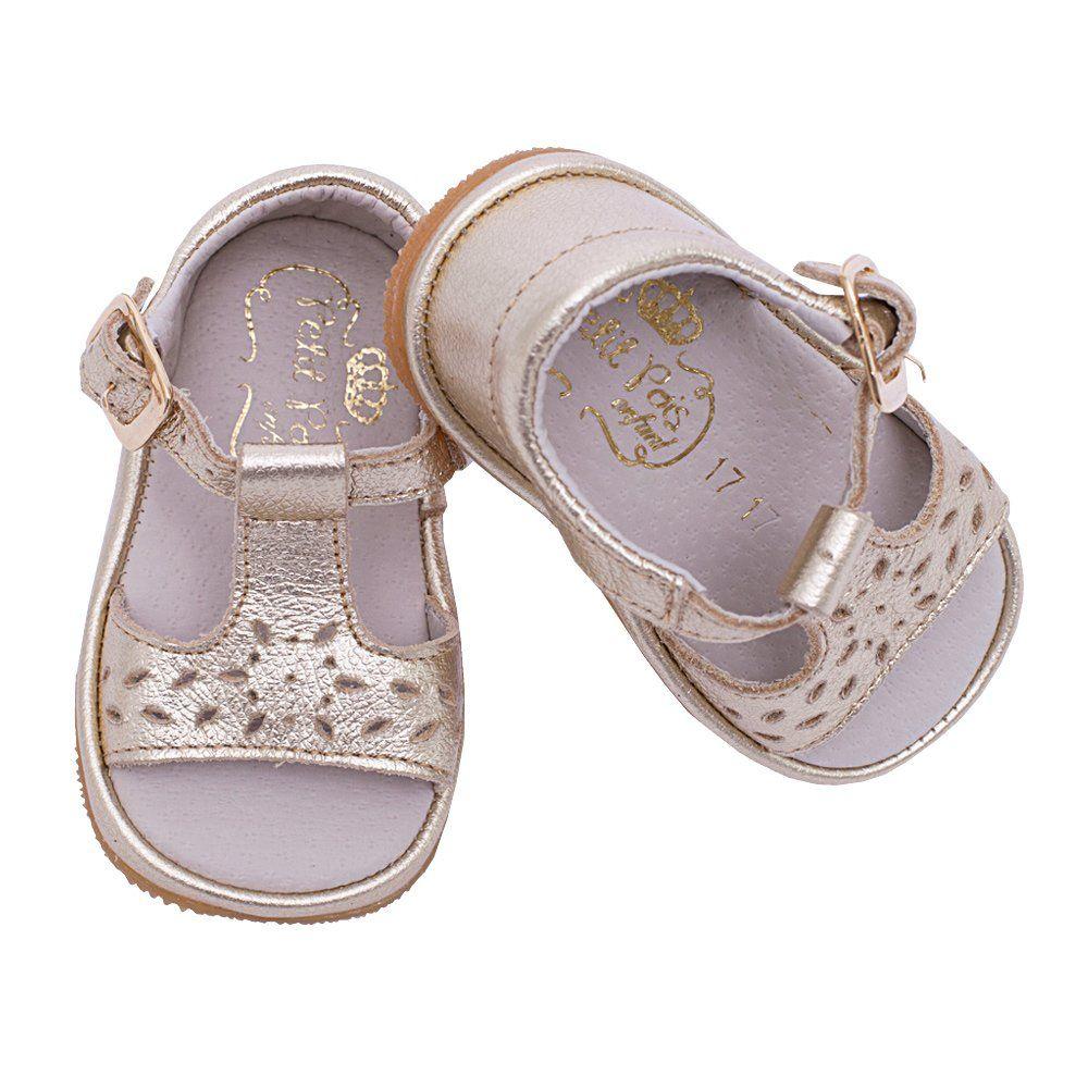 Sandália bebê feminina - Dourado