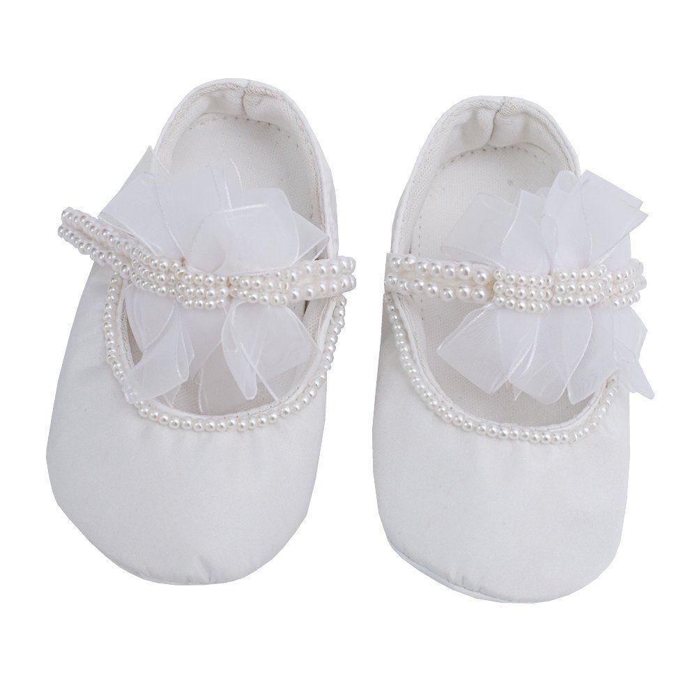 Sapatilha bebê bordada - Branco