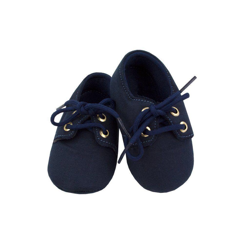 Sapatinho bebê mocassim - Azul marinho