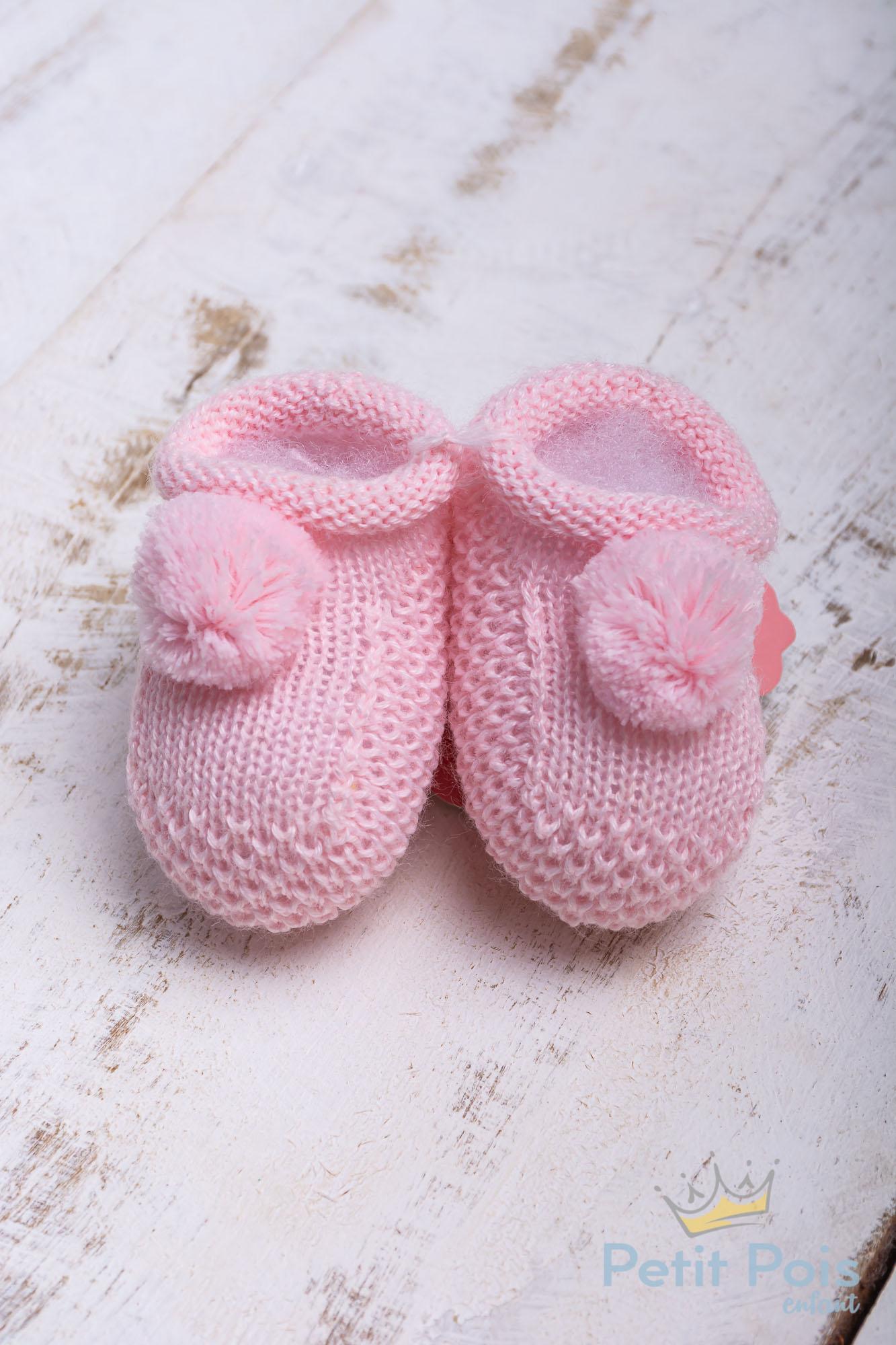 Sapatinho bebê pompom - Sensação