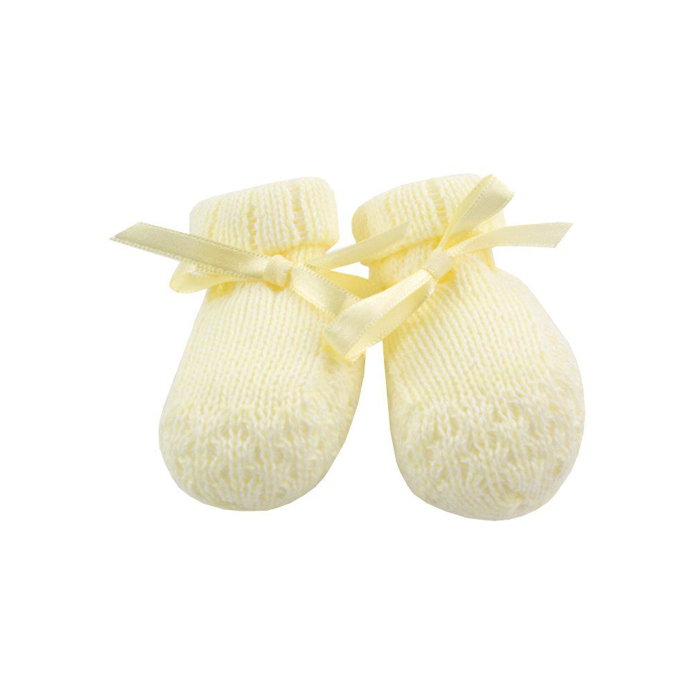 Sapatinho de bebê em tricot - Marfim