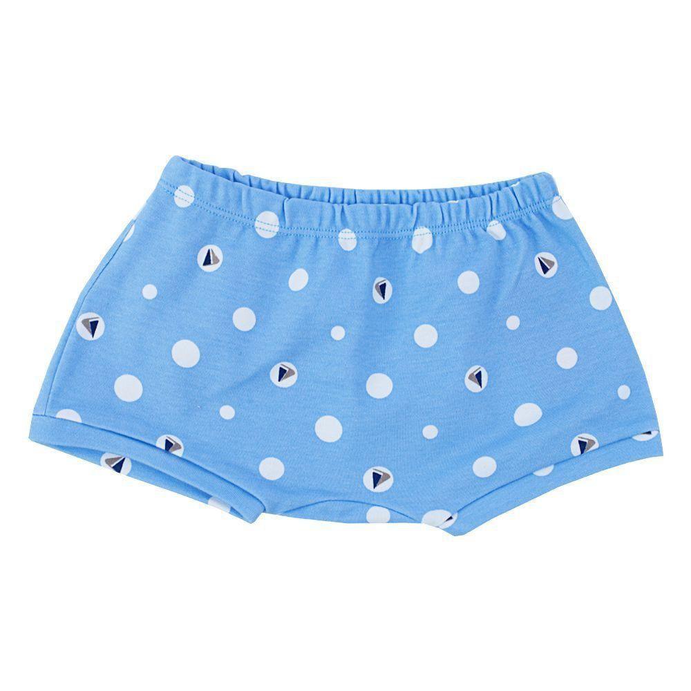 Short bebê - Azul