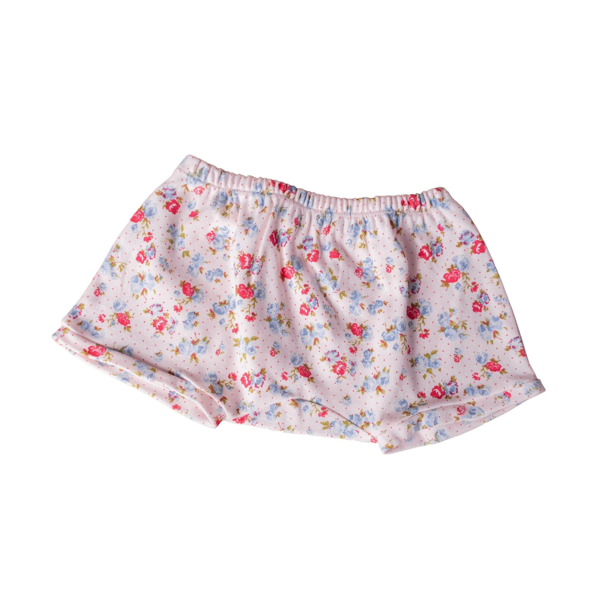 Short bebê floral - Rosa