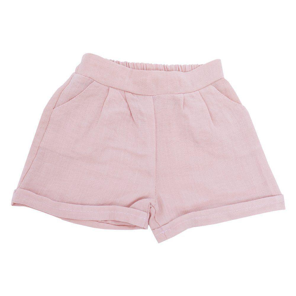 Short bebê - Rosa seco