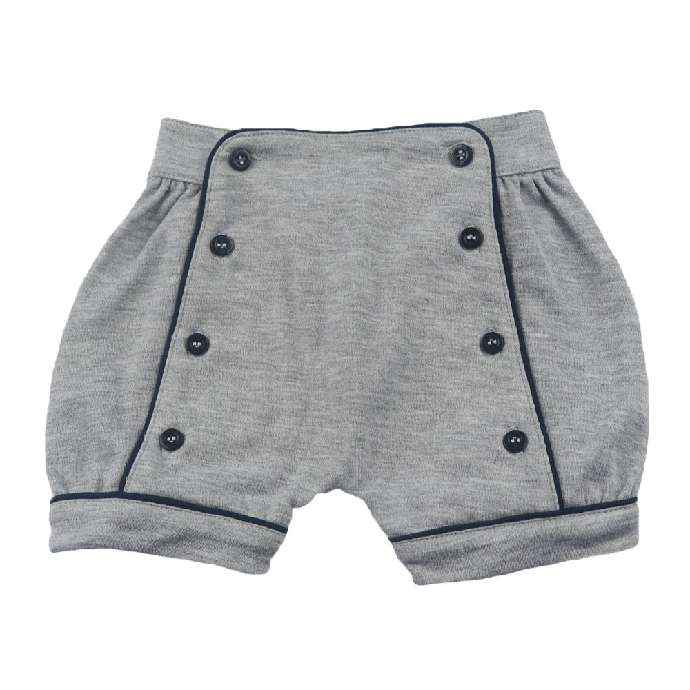 Short bebê com botões - Cinza