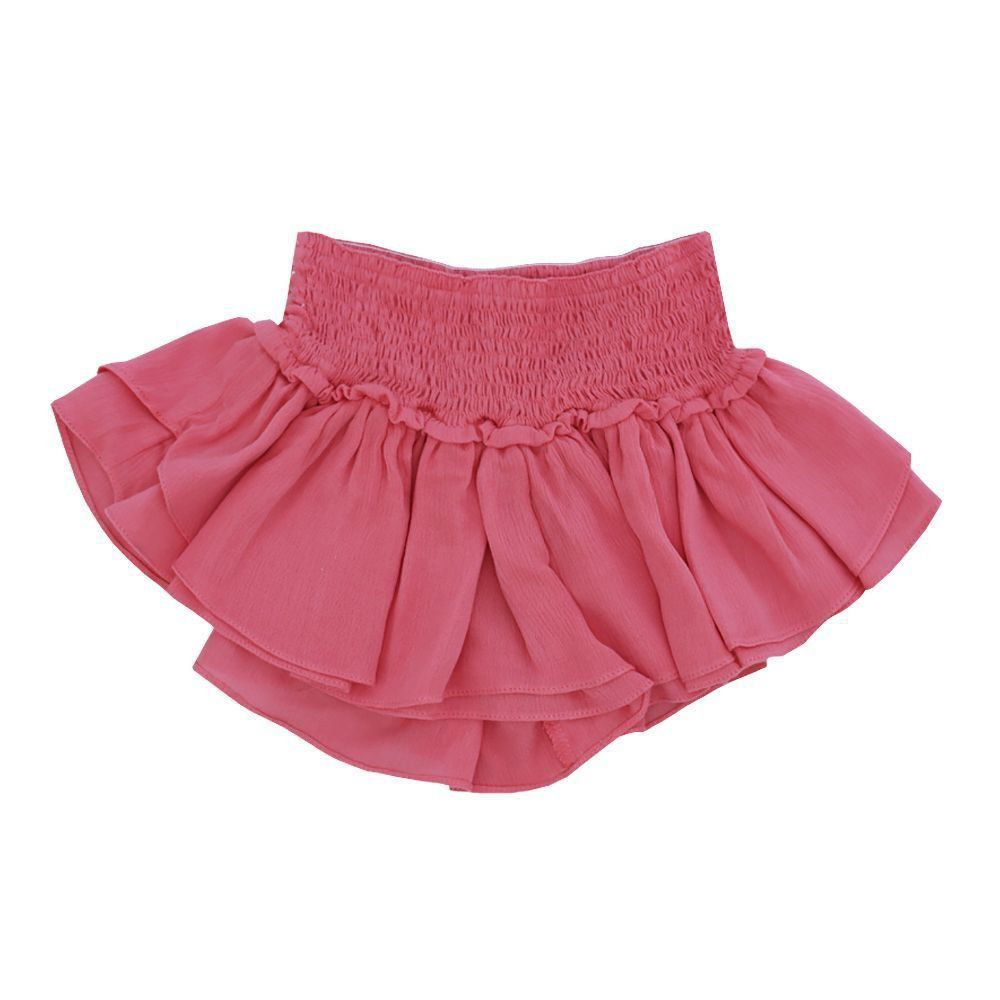 Short saia bebê - Coral