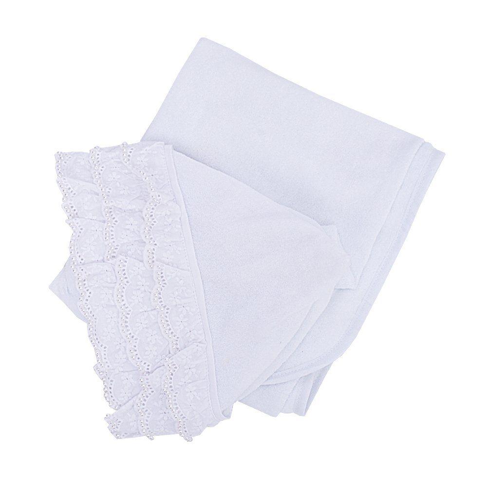 Toalha de banho bebê feminina - Branco