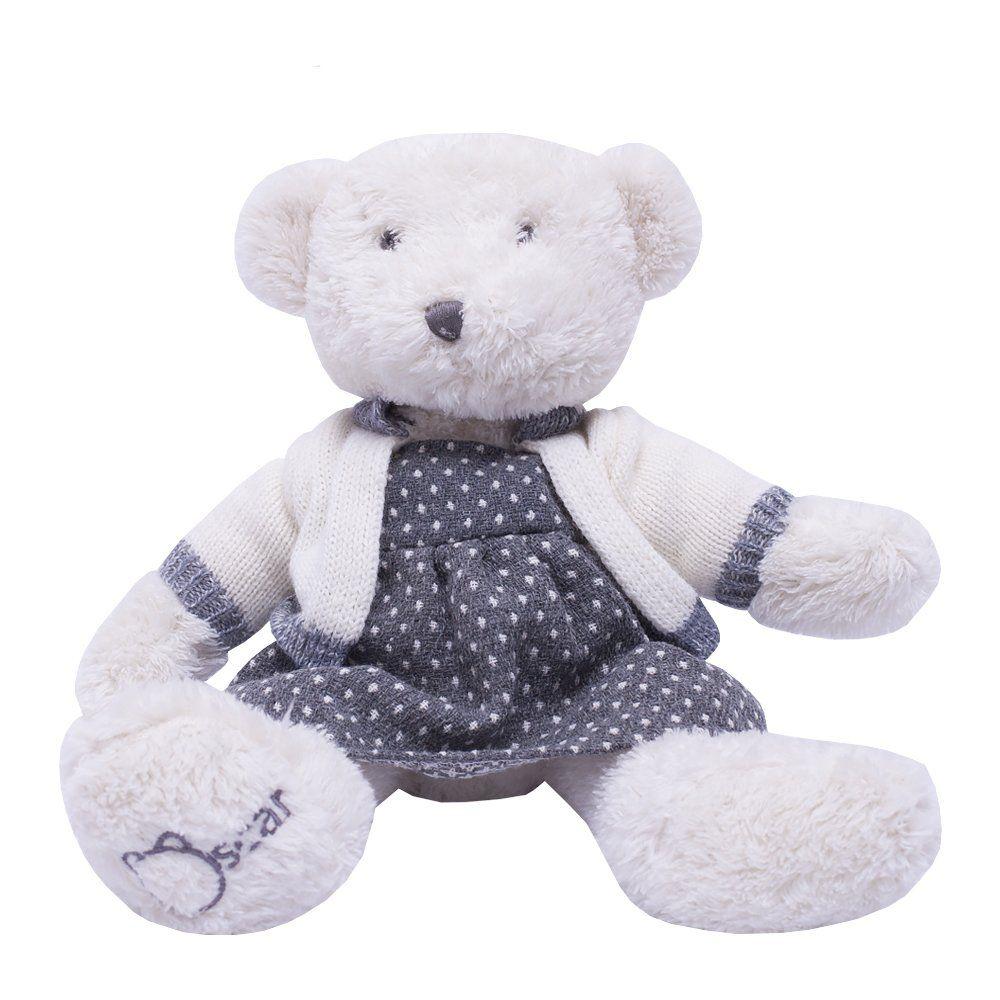 Urso de pelúcia - Branco e cinza
