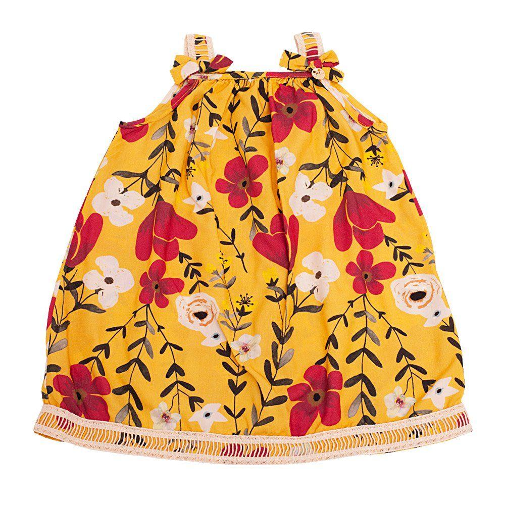 Vestido bebê - Amarelo