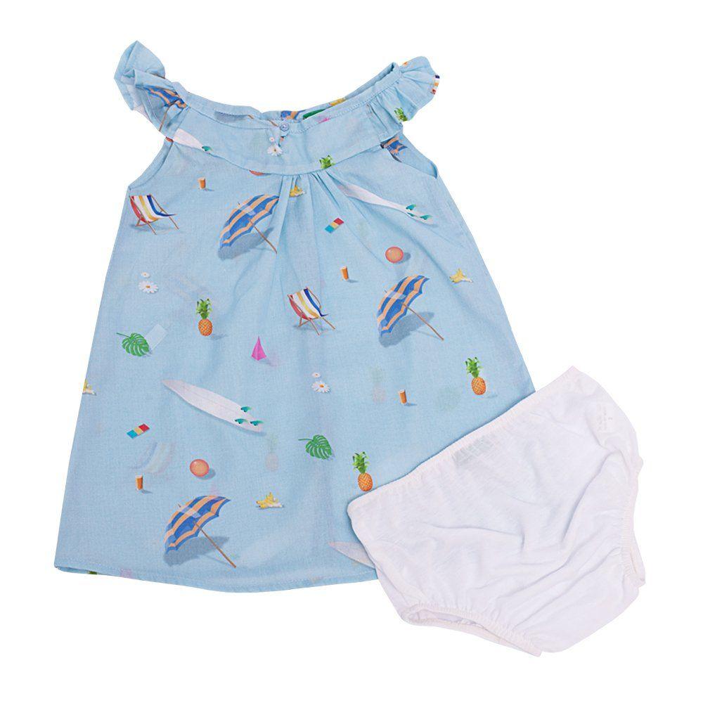 Vestido bebê - Azul