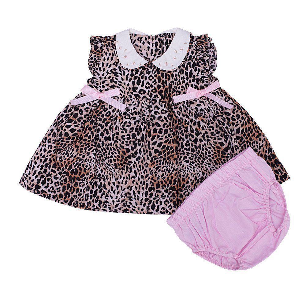 Vestido bebê com calcinha - Oncinha