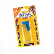 Apontador de Lápis Plástico Retangular com Depósito BRW 01un
