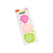 Bloco de Anotações 70x70mm Tokens Frutas Smart Notes 25fls