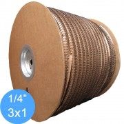 Bobina Wire-o 3x1 Preto 1/4 para 25 fls 91.000 anéis