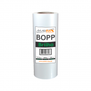 Bopp Brilho para Laminação Bobina A4 21,5cmx200m Marpax 01un