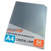 Capa para Encadernação A4 Cristal Line Frente PP 0,30 50un