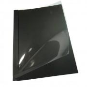 Capa Térmica Crystal Paper Preto A4 10mm 71 à 90 folhas 05un