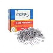 Clips de Papel Galvanizado nº 6.0 BRW caixa com 500gr