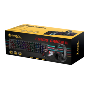 Combo Gamer - Teclado, Mouse e Headset Bright
