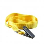 Cordão para Crachá com Jacaré Amarelo 12mm Marpax 10un