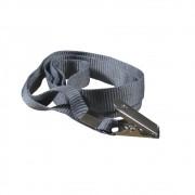 Cordão para Crachá com Jacaré Cinza Escuro 12mm Marpax 10un