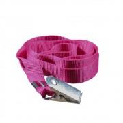 Cordão para Crachá com Jacaré Rosa 12mm Marpax 10un