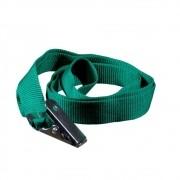 Cordão para Crachá Jacaré Verde Bandeira 12mm Marpax 10un