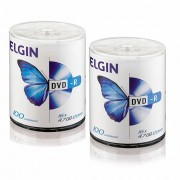 DVD Virgem Gravável logo DVD-R 4.7GB/120min 16x Elgin 200un