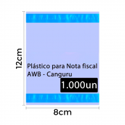 Envelope Canguru Plástico para Nota Fiscal 12x8cm 1000un 2F