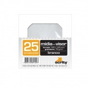 Envelope CD e DVD Branco CMD101 125x125mm Scrity 25un