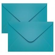 Envelope Convite de Casamento Azul Turqueza Bahamas Scrity 160x235mm 100un