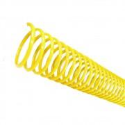 Espiral para Encadernação Amarelo 14 mm para 85 folhas 100un