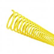 Espiral para Encadernação Amarelo 17mm para 100 folhas 100un