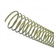 Espiral para Encadernação Bronze 7 mm para 25 folhas 100un