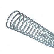 Espiral para Encadernação Prata 7 mm para 25 folhas 100un
